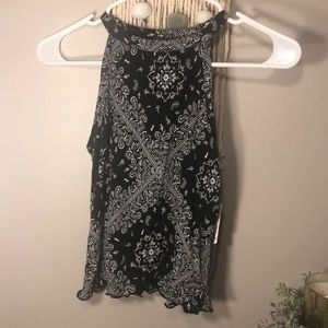 Black bandana tank top